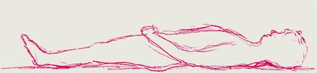 Die Körper ist im Liegen gestreckter als im Stehen